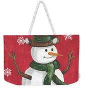 Folk Snowman Weekender Tote Bag