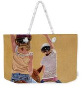 Follow The Leader - Horseback Riding Lesson Painting Weekender Tote Bag