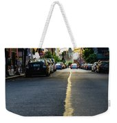Follow The Yellow Line Weekender Tote Bag