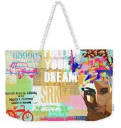 Follow Your Dream Collage Weekender Tote Bag