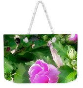 Following A Bumble Bee In Flight Weekender Tote Bag