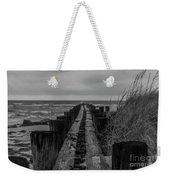 Folly Beach Anti Erosion Pier Weekender Tote Bag