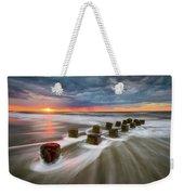 Folly Beach Charleston Sc South Carolina Sunrise Seascape Weekender Tote Bag