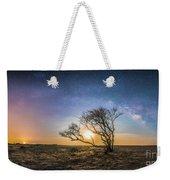 Folly Beach Milky Way Panorama Weekender Tote Bag
