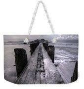 Folly Beach Pilings Charleston South Carolina Weekender Tote Bag