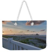 Folly Pier Sunrise Weekender Tote Bag