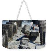 Folly Sea Wall Weekender Tote Bag