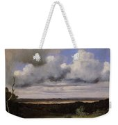 Fontainebleau Storm Over The Plains Jean-baptiste-camille Corot Weekender Tote Bag