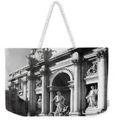 Fontana Di Trevi Rome, Italy - Bw Weekender Tote Bag