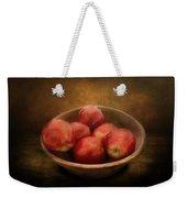Food - Apples - A Bowl Of Apples  Weekender Tote Bag