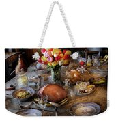 Food - Easter Dinner Weekender Tote Bag by Mike Savad