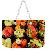 Food - Peppers Weekender Tote Bag by Paul Ward