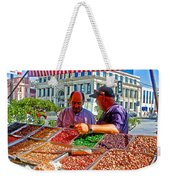 Food Booth In Valparaiso Square-chile Weekender Tote Bag