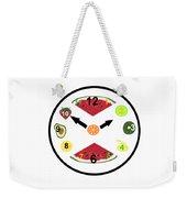 Food Clock Weekender Tote Bag