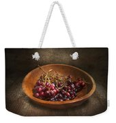Food - Grapes - A Bowl Of Grapes  Weekender Tote Bag by Mike Savad