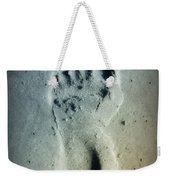 Foot Print In The Sand Weekender Tote Bag