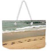 Foot Prints In The Sand.jpg Weekender Tote Bag