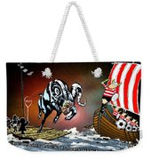 Football Derby Rams Against Doncaster Vikings Weekender Tote Bag