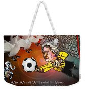 Football Derby Rams Against Swansea Swans Weekender Tote Bag