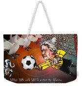 Football Derby Rams Against Swansea Swans Weekender Tote Bag