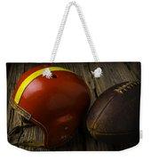 Football Helmet And Football Weekender Tote Bag