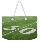 Football On The 50 Yard Line Weekender Tote Bag
