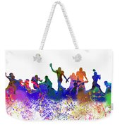 Football Players Skyline Weekender Tote Bag
