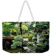 Footbridge Across A Pond, Kyoto Weekender Tote Bag