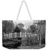 Footbridge In Black And White Weekender Tote Bag