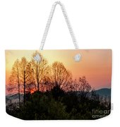 Foothills Parkway Sunrise Weekender Tote Bag