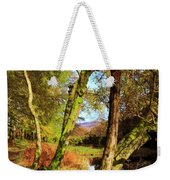 Footpath At The Edge Of Lantys Tarn In The Lake District Cumbria Weekender Tote Bag