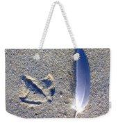 Footprint And Feather Weekender Tote Bag