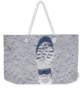 Footprint In Snow Weekender Tote Bag