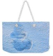 Footprint In The Snow Weekender Tote Bag