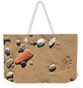 Footprint On Sand Weekender Tote Bag