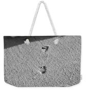 Footprints In The Sand Black And White Weekender Tote Bag