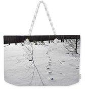 Footprints In The Snow Weekender Tote Bag