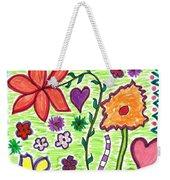 For The Love Of Flowers Weekender Tote Bag