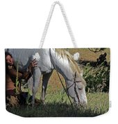 For The Love Of His Horse Weekender Tote Bag