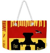 For Whom The Bell Tolls Book Cover Poster Art 1 Weekender Tote Bag
