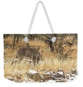 Foraging In The Snow Weekender Tote Bag