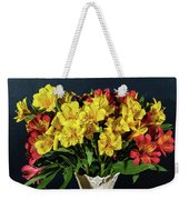 Foral Bouquet Of Red And Yellow Astomelia Weekender Tote Bag