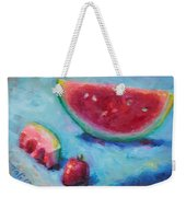 Forbidden Fruit Weekender Tote Bag by Talya Johnson