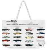 Ford Auto/edsel Ad, 1957 Weekender Tote Bag