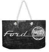 Ford F-100 Emblem On A Rusted Hood Weekender Tote Bag