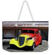 Ford Flaming Hot Rod Weekender Tote Bag