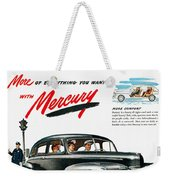 Ford Mercury Ad, 1946 Weekender Tote Bag