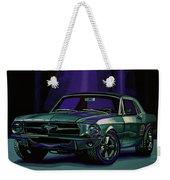 Ford Mustang 1967 Painting Weekender Tote Bag