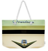 Ford V8 Pickup Emblem Weekender Tote Bag