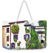 Foreshortening Of House Covered With Climbing Plants Weekender Tote Bag